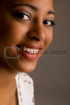 Smiling african face
