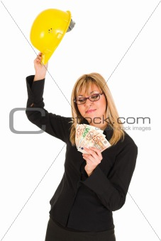 A businesswoman with earnings