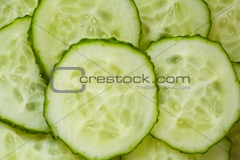 Circles of a fresh cucumber
