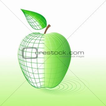Cyber green apple