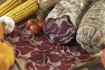 """coppa di Parma"" salami"