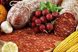 "italian ""ventricina"" salami"