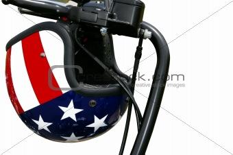 American flag motorcycle helmet