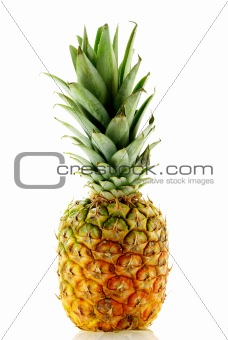 close up shot of ripe fresh pineapple