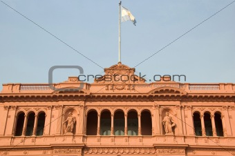 Famous balcony of the Casa Rosada in Argentina