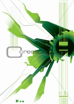 green modern space