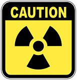 caution radio active sign