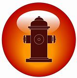 fire hydrant button or icon