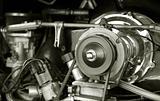 vintage RV auto engine