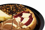 macro view of a cheesecake sampler