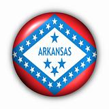 Round Button USA State Flag of Arkansas