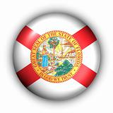 Round Button USA State Flag of Florida