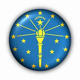 Round Button USA State Flag of Indiana