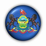 Round Button USA State Flag of Pennsylvania