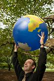 Man with Globe