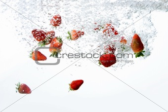 Strawberry Bubble Background