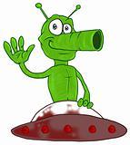 Funny martian in UFO