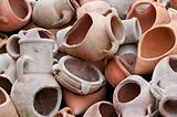 Broken amphoras