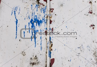 Grungy metal texture with paint splash on
