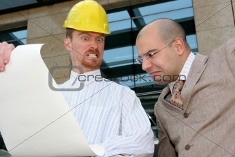 angry architect and businessman