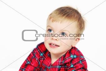 Boy in Christmas Shirt