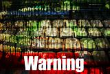 Warning Message on a Technology Abstract Background