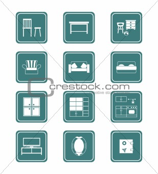 Home furniture icon-set