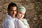 Hispanic couple embracing