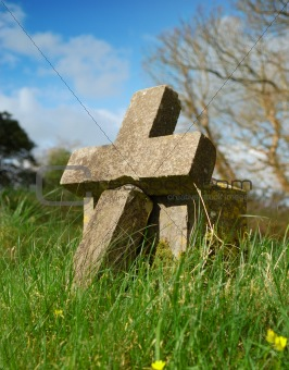 cross shaped grave stone