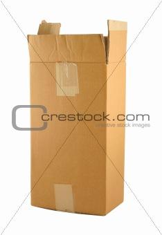 cardboard box on pure white