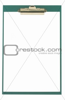 clipboard on white