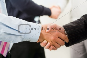 Row of handshakes
