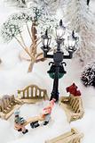 christmas scene in miniature