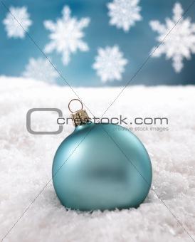 blue chrismas ball