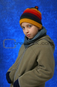 Boy winter portrait