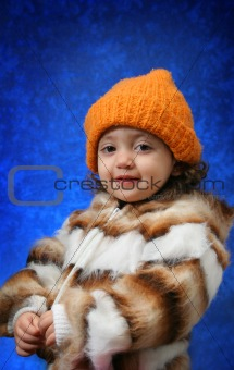 Toddler winter portrait
