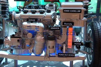 Automotive hybrid engine