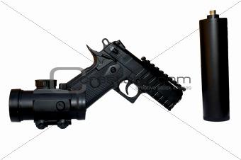 Knocked down pistol