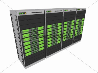 3d servers - Green