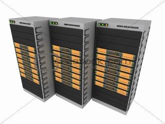 3d servers - orange