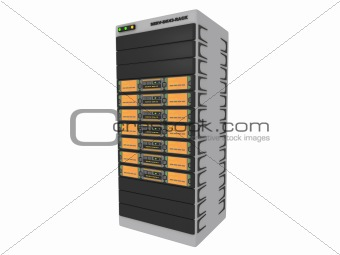 3d server - orange