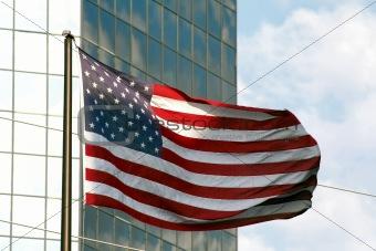 Flag & Building 1