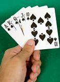 aces royal flush - spades