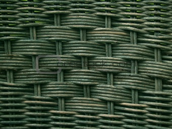 Greenish Old Wicker Texture