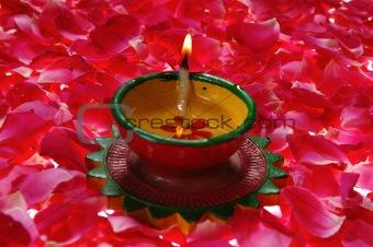 Lantern on petals