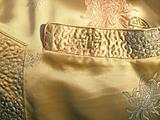 Chinese silk jacket pocket & detail