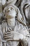 Sculpture in the Donscoy monastery