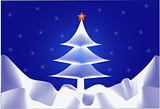 Christmas-tree and Star - vector