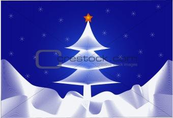 Christmas-tree and Star - vector