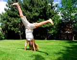 Girl cartwheel